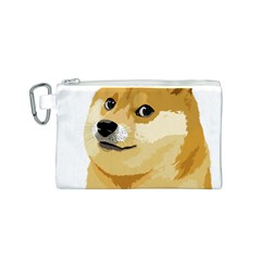 Dogecoin Canvas Cosmetic Bag (S)