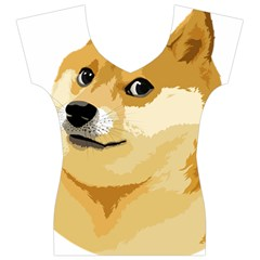 Dogecoin Women s V-Neck Cap Sleeve Top