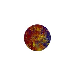 Abstract In Gold, Blue, And Red 1  Mini Buttons