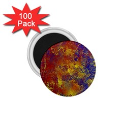 Abstract in Gold, Blue, and Red 1.75  Magnets (100 pack)