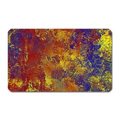 Abstract In Gold, Blue, And Red Magnet (rectangular)