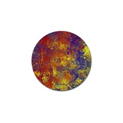 Abstract In Gold, Blue, And Red Golf Ball Marker (10 Pack)