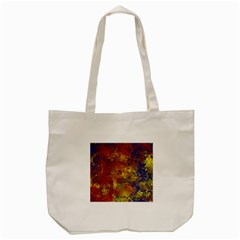 Abstract In Gold, Blue, And Red Tote Bag (cream)