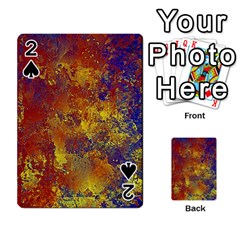 Abstract In Gold, Blue, And Red Playing Cards 54 Designs