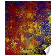 Abstract in Gold, Blue, and Red Canvas 8  x 10
