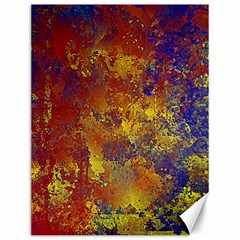 Abstract In Gold, Blue, And Red Canvas 12  X 16