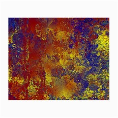 Abstract In Gold, Blue, And Red Small Glasses Cloth (2 Side)