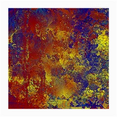 Abstract in Gold, Blue, and Red Medium Glasses Cloth (2-Side)