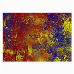 Abstract In Gold, Blue, And Red Large Glasses Cloth