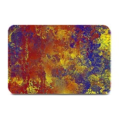 Abstract In Gold, Blue, And Red Plate Mats