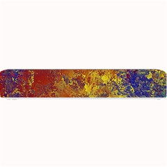 Abstract in Gold, Blue, and Red Small Bar Mats