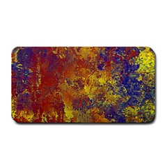 Abstract in Gold, Blue, and Red Medium Bar Mats