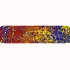Abstract in Gold, Blue, and Red Large Bar Mats
