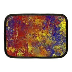 Abstract in Gold, Blue, and Red Netbook Case (Medium)