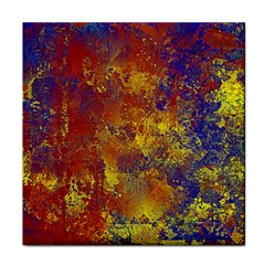 Abstract In Gold, Blue, And Red Face Towel