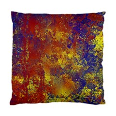 Abstract in Gold, Blue, and Red Standard Cushion Case (One Side)