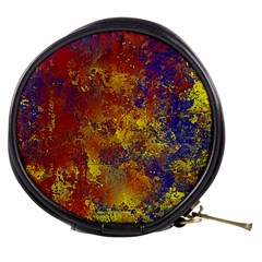 Abstract in Gold, Blue, and Red Mini Makeup Bags