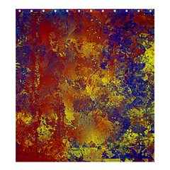 Abstract in Gold, Blue, and Red Shower Curtain 66  x 72  (Large)