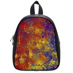 Abstract in Gold, Blue, and Red School Bags (Small)