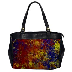 Abstract in Gold, Blue, and Red Office Handbags