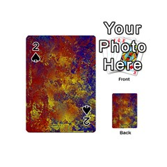 Abstract in Gold, Blue, and Red Playing Cards 54 (Mini)