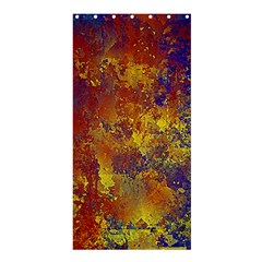 Abstract in Gold, Blue, and Red Shower Curtain 36  x 72  (Stall)