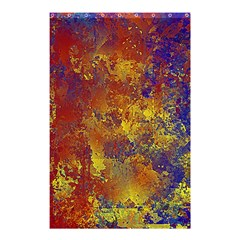 Abstract In Gold, Blue, And Red Shower Curtain 48  X 72  (small)