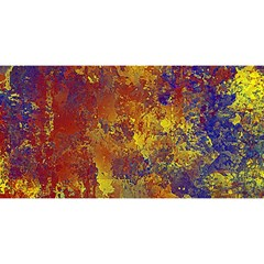 Abstract In Gold, Blue, And Red You Are Invited 3d Greeting Card (8x4)