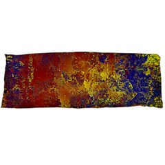Abstract in Gold, Blue, and Red Body Pillow Cases (Dakimakura)