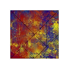 Abstract in Gold, Blue, and Red Acrylic Tangram Puzzle (4  x 4 )