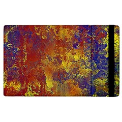 Abstract in Gold, Blue, and Red Apple iPad 2 Flip Case