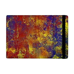 Abstract in Gold, Blue, and Red Apple iPad Mini Flip Case