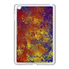 Abstract in Gold, Blue, and Red Apple iPad Mini Case (White)