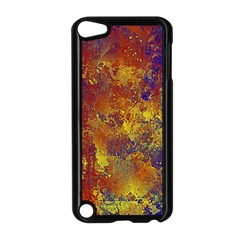 Abstract In Gold, Blue, And Red Apple Ipod Touch 5 Case (black)
