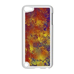 Abstract in Gold, Blue, and Red Apple iPod Touch 5 Case (White)