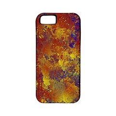 Abstract in Gold, Blue, and Red Apple iPhone 5 Classic Hardshell Case (PC+Silicone)
