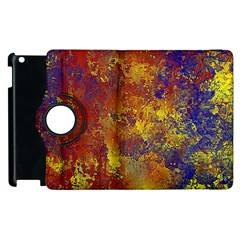 Abstract In Gold, Blue, And Red Apple Ipad 3/4 Flip 360 Case