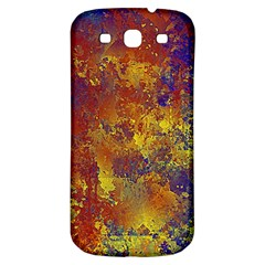 Abstract in Gold, Blue, and Red Samsung Galaxy S3 S III Classic Hardshell Back Case