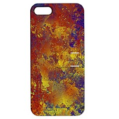 Abstract in Gold, Blue, and Red Apple iPhone 5 Hardshell Case with Stand