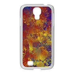 Abstract In Gold, Blue, And Red Samsung Galaxy S4 I9500/ I9505 Case (white)