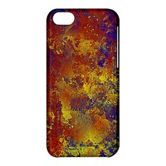 Abstract In Gold, Blue, And Red Apple Iphone 5c Hardshell Case