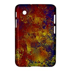 Abstract In Gold, Blue, And Red Samsung Galaxy Tab 2 (7 ) P3100 Hardshell Case