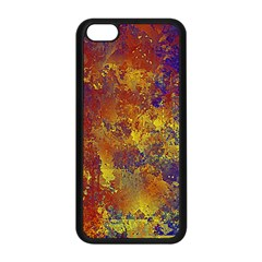 Abstract In Gold, Blue, And Red Apple Iphone 5c Seamless Case (black)