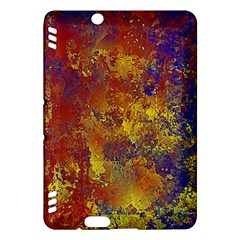 Abstract In Gold, Blue, And Red Kindle Fire Hdx Hardshell Case
