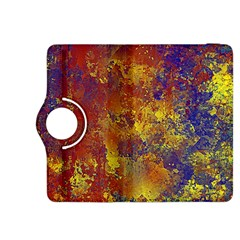 Abstract in Gold, Blue, and Red Kindle Fire HDX 8.9  Flip 360 Case
