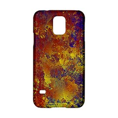 Abstract in Gold, Blue, and Red Samsung Galaxy S5 Hardshell Case