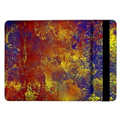 Abstract In Gold, Blue, And Red Samsung Galaxy Tab Pro 12 2  Flip Case
