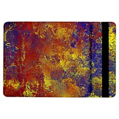 Abstract in Gold, Blue, and Red iPad Air Flip