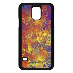 Abstract In Gold, Blue, And Red Samsung Galaxy S5 Case (black)