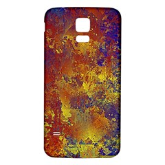 Abstract In Gold, Blue, And Red Samsung Galaxy S5 Back Case (white)